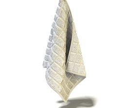 Beige Cotton Towel 3D model