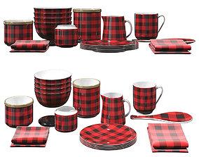 Check Cookware Set 3D model