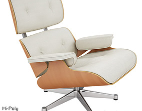 3D model Vitra Lounge Eames Chair - Hi-Poly