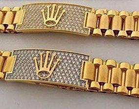 silver 3D printable model Versace bracelet