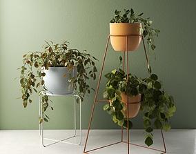 3D model Montgolfier Pots with Plants
