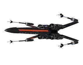 sci-fi 3D model X-Wing Fighter