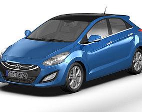 3D model 2013 Hyundai i30 Elantra Touring