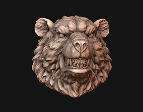 Bear head 3D print model statue