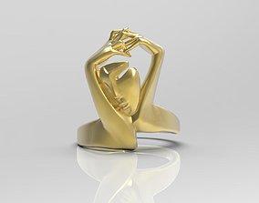 fashion 3D printable model Elegant womens ring