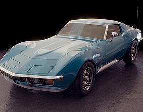3D Chevrolet Corvette 350 1972