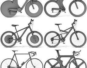 3D model Set 6 of Detailed Bikes