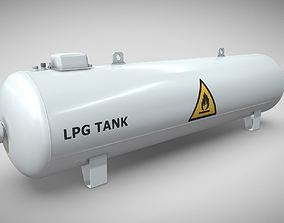 Liquefied Petroleum Gas Tank High-Poly 3D