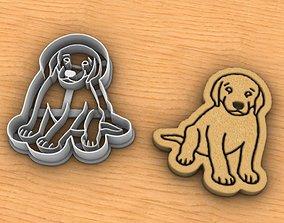3D printable model Labrador dog cookie cutter