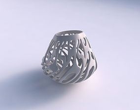 3D print model Bowl with twisted smooth cuts long top