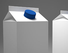 3D model Milk carton box container