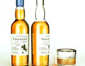 Talisker Whiskey Bottle cup 3D model