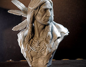 Native American Bust 3D printable model