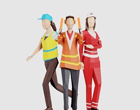 Airport Crew Women 3D model