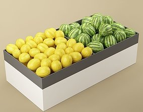 Store Fruits Stand 07 3D model
