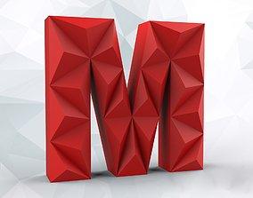 3D print model Lowpoly letter M