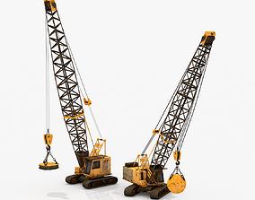 Two Crawler Cranes 3D asset