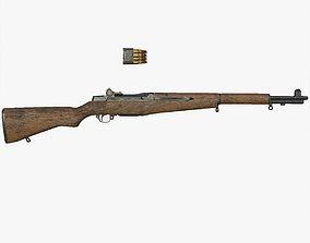 Lowpoly M1 Garand Rifle 3D model