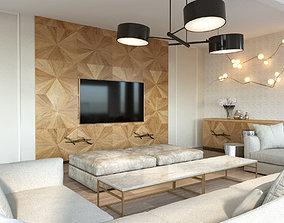 3D model modern style designer made interior scene