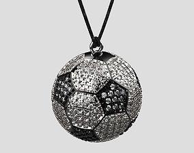 Pendant ball 3d printable Football sport jewellery 3dm 1
