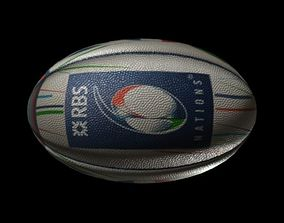 3D model rugby ball six nations