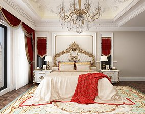 Neoclassical bedroom 3D model