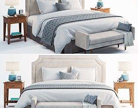 potterybarn bed set 3D model