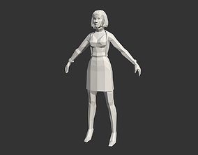 Low Poly Female People 3D asset