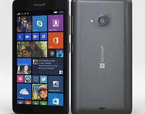 3D model Microsoft Lumia 535 and Dual SIM Gray