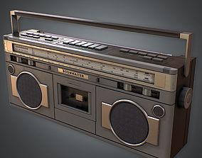3D model Boombox Retro 80s