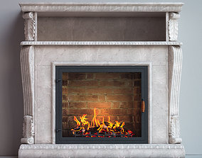 fireplace furniture 3D model