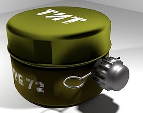 3D model Landmine Anti Personnel Blast Mine