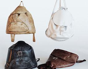 3D model leather backpack