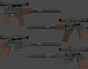 3D asset AS VAL - VSS - PSO 1 - Low Poly isometric