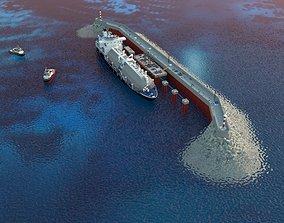 3D model LNG transshipment Complex