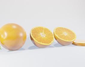 lemon orange fruit 3D