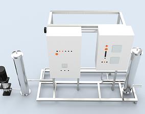 Ultra violet UV purification system for water 3D asset