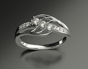 3D printable model Lady Diamond Ring