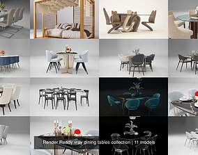 Render Ready vray dining tables collection 3D model