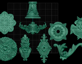 3 decoration elements 3D print model