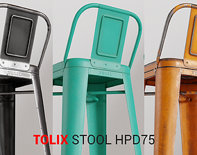 3D asset Tolix Stool HPD75
