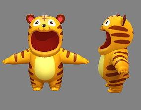 Cartoon tiger costume 3D asset