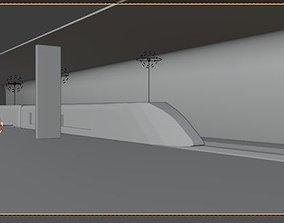 3D Subway station modern