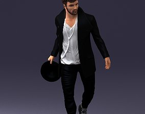 Walking with hat 1117 3D Print Ready
