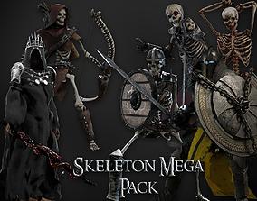 Skeleton Mega Pack 3D undead