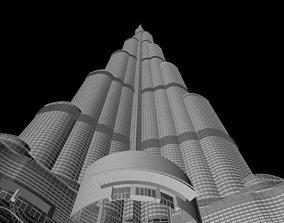 burj khalifa sky-scraper 3D