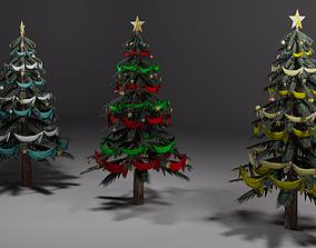 3D asset Christmas trees
