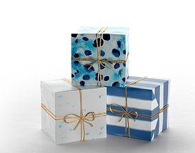 Indigo Speckles Gift Wrap 3D model