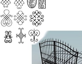 3D Big wrought iron collection