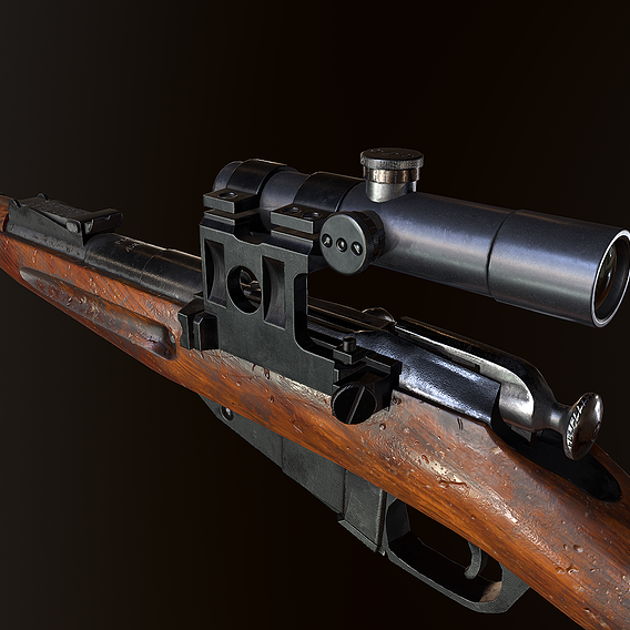 Mosin WW2 ussr Rifle